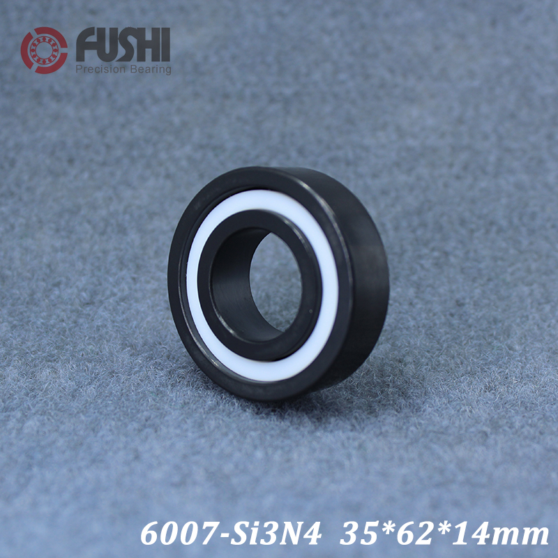 6007 Full Ceramic Bearing ( 1 PC ) 35*62*14 mm Si3N4 Material 6007CE All Silicon Nitride Ceramic Ball Bearings 2018 hot sale special offer axk 6007 full ceramic bearing 1 pc 35 62 14 mm zro2 material 6007ce all zirconia ball bearings