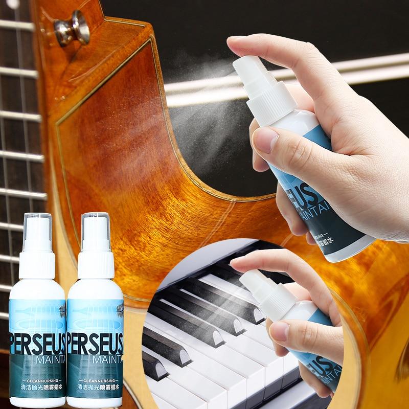 Guitar Rosy Fingerboard Nursing Oil Fingerboard Lemon Oil Guitar Bass Ukulele String Instrument String Cleaner Polish Cloth 60ML