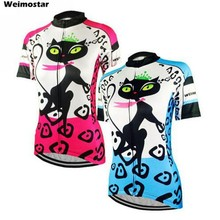 High Quality Weimostar Team Cycling jersey Women Bike wear Jacket Bicycle jersey Short sleeve Top Cycling clothing