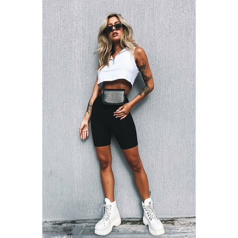 Image 3 - Sexy Women Sports Jogger Shorts Cycling Stretchy High Waist Athletic Workout Fitness Shorts Women Breathable Shorts-in Shorts from Women's Clothing