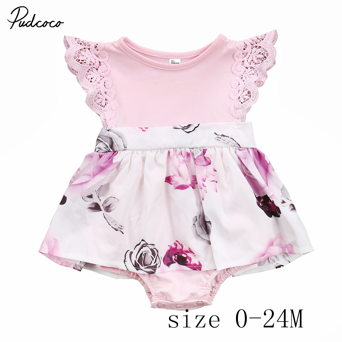 e138066c99 Pudcoco Little Sister Toddler Kids Girls Floral Dress Sundress Newborn Baby  Dress Romper Clothes 0 6Y-in Dresses from Mother   Kids on Aliexpress.com  ...