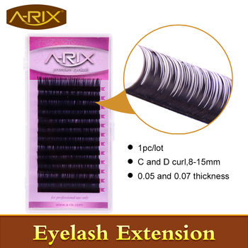 A-RIX 1pcs 0.05 and 0.07 JBCD Curl Premium High Quality Eyelash Extension Mink Hair Individual False Eyelashes korean lashes