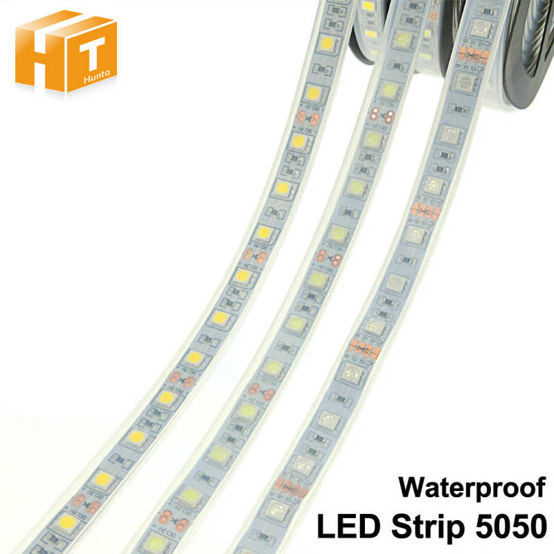 IP67/IP68 Tahan Air LED Strip 5050 DC12V 60 LED/M Berkualitas Tinggi Tabung Di Luar Rumah/Di Bawah Air strip LED.