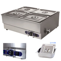 Best Price food warming snack machines bain marie hotel electric soup heating catering counter top kitchen equipment 4 pan