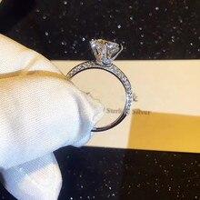 TSHOU02 Настоящее серебро 925 пробы кольцо сердца, стрелы Свадебные украшения кольца обручение для женщин