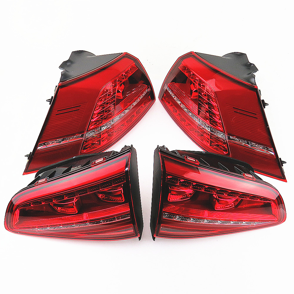 DOXA LED Dynamic Tail Light Lamp Reverse Turn Signal Set For VW Golf MK7 MK VII GTI R 5G0945207 5G0945208 5G0945307G 5G0945308G real carbon fiber mirror cover case for vw golf 7 mk7 gti tsi vii jdm 2013 2015 [1031001]