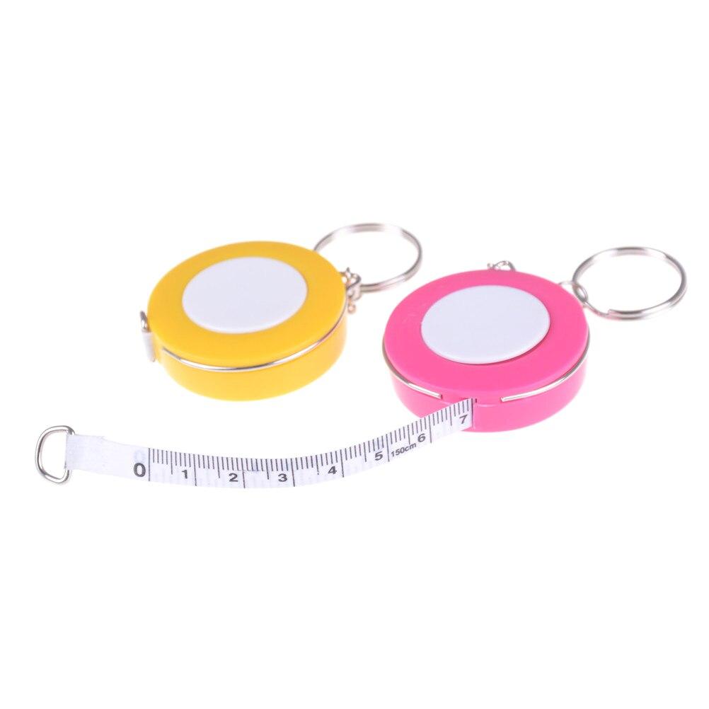 Новая конфетная цветная лента для ключей, измерительная лента 1,5 метра, размер одежды, измерительная лента, маленькая рулетка