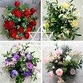Seide Blume Ball Flowe Rack Für Hochzeits-mittel Home Zimmer Dekoration Partei Liefert DIY Straße Führen Handwerk Blume 9 Farbe