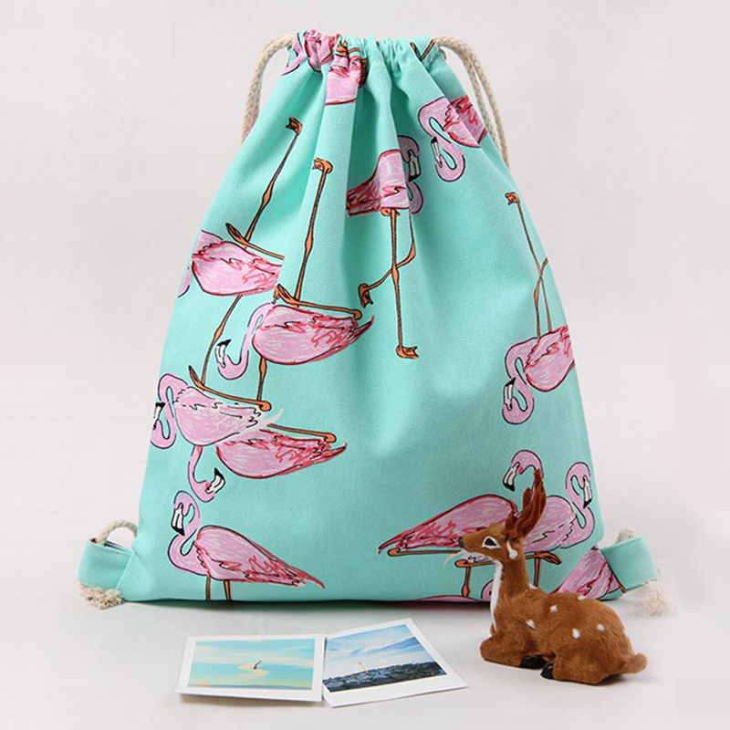 New Fashion Backpack Flamingo 3D Printing Travel Softback Man & Women Drawstring Bag Female Male Backpacks School bags