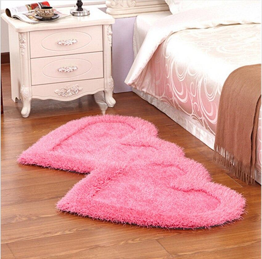 Tapis épais stretch soie double coeur figure chambre tapis thé table lit coussin absorbant pad produits de mariage