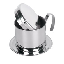 Realand Top Stainless Steel Vietnam Coffee Pour Over Dripper Maker Filter Single