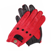 New Arrival Fashion Women Genuine Leather Gloves Nappa Sheepskin Wrist Unlined Breathable Black Red Driving Gloves Women Mittens 1