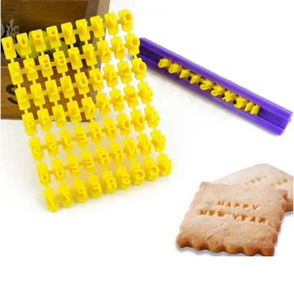 hot sale alphabet number cookies biscuit letter stamp embosser fondant cake decorating mold braking cutter gd30