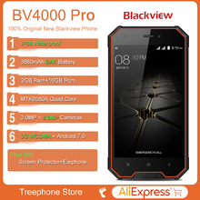 Blackview BV4000 Pro Android 7.0 Quad Core IP68 Waterproof Smartphone 4.7″HD 2GB+16GB Mobile phone 8.0MP 3G Camera Cell phone