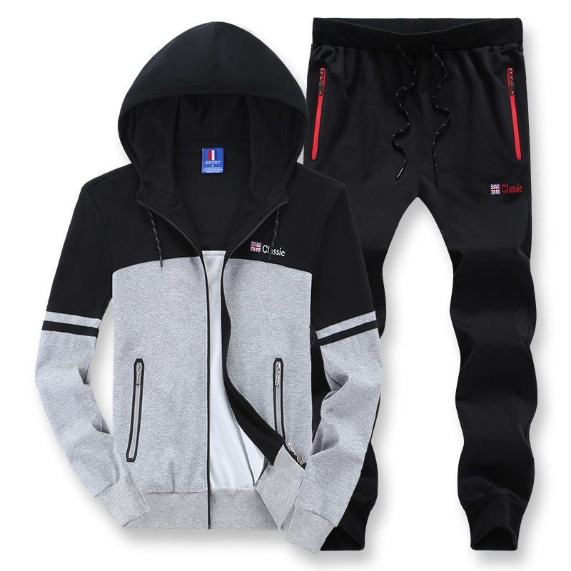 Use For 135kg Plus Size Loose Men Hoodies Sets Sport Suit Windproof Warm Workout Gym Clothing 7XL 8XL Running Fitness Tracksuit kangfeng серый цвет 7xl