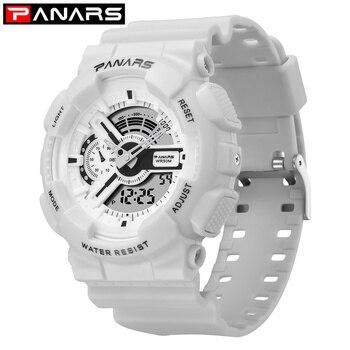 PANARS Digital Watch Men Student LED Double Display Multi-function Watches Waterproof Sport Watch Fashion WristWatch Mens Women