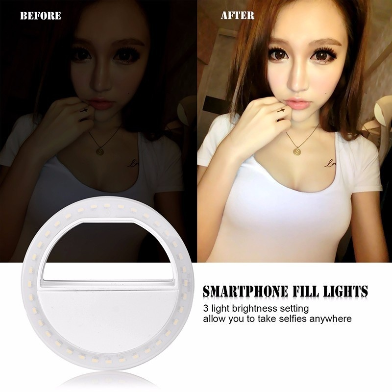 cheapest Mobile Phone Flashes   Selfie Lights Dimmable Fill LED Ring Light for Youtube Makeup Phone Selfie with Tripod Phone Holder Clip
