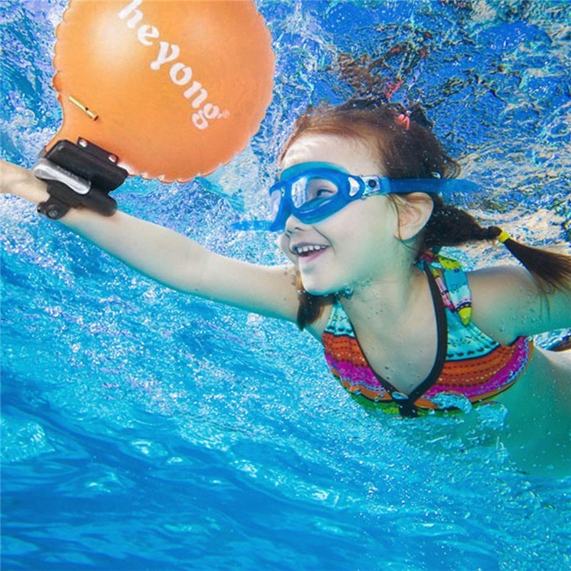 Portable Lifesaving Bracelet Lifesaving Wristband Inflatable Escape Float Self Rescue Balloon With Compass Whistle Anti Drowning 6 5ft diameter inflatable beach ball helium balloon for advertisement
