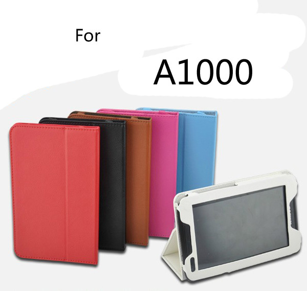 New Luxury 2-Folding Folio Stand Holder Leather Skin Case Protective Cover For Lenovo IdeaTab A1000 A1010 A1020 7 7 inch Tablet аксессуар чехол lenovo ideatab s6000 g case executive white