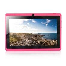 Cheaper Free shipping 7″ Q88 Allwinner A33 Quadl Core 1.5GHz  Five Colors 7 inch Tablet PC 1024 x 600 Dual Camera 2500mAh 8GB