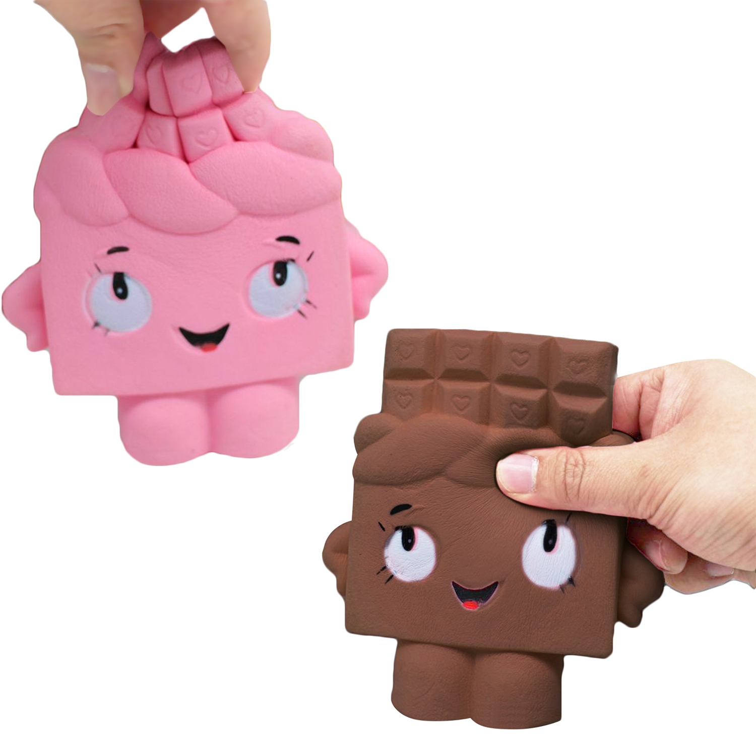 Besegad Cute Kawaii Soft Squishy Chocolate Toy Slow Rising For Children Adults Relieves Stress Anxiety Cabinet Decoration Sample