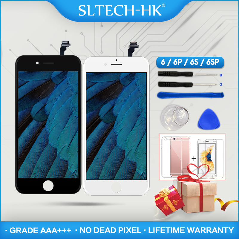 Grado AAA + + + para iPhone 6 6 s Plus LCD con 3D fuerza ASAMBLEA DE PANTALLA TÁCTIL digitalizador para el iPhone 5S pantalla píxel muerto