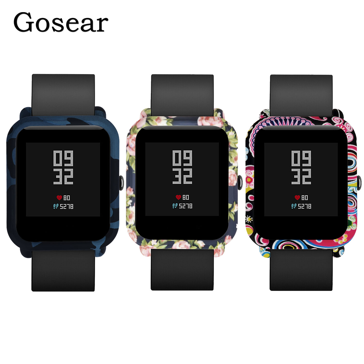 Gosear Protector Protective Frame Case Cover Shell Dust proof Anti scratch Accessories for Xiaomi Huami Amazfit Bip Youth WatchUSD 2 27 piece