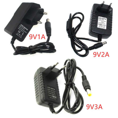 Power Adapter Led Driver Dc 9v 1a 2a 3a Adjustable Dc 9 V Volt Power Adapter Charger Supply Switching 220v To 12v Led Light Lamp