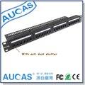 AUCAS Гбит 24 порта CAT6 RJ45 Патч-Панель Рама rj45 Keystone Адаптеры кабель менеджер