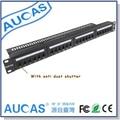 AUCAS Gbit 24 portas CAT6 Patch Panel RJ45 Quadro Keystone rj45 Adaptadores de cabo gerente