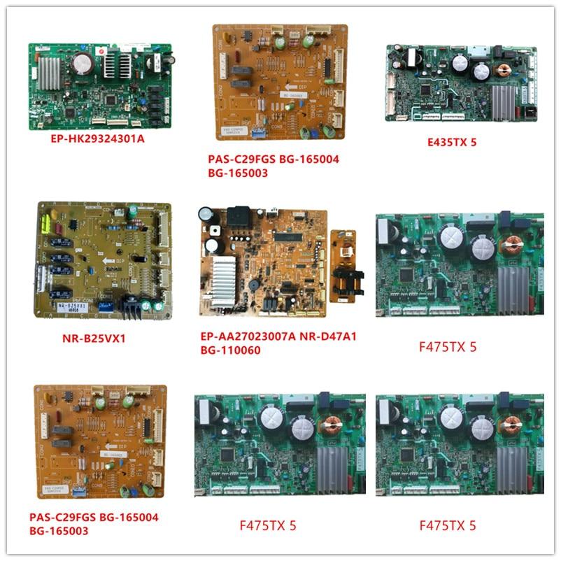 EP-HK29324301A| PAS-C29FGS BG-165004| BG-165003| E435TX 5| NR-B25VX1| EP-AA27023007A NR-D47A1| BG-110060 F475TX 5 F605TX 5 Used
