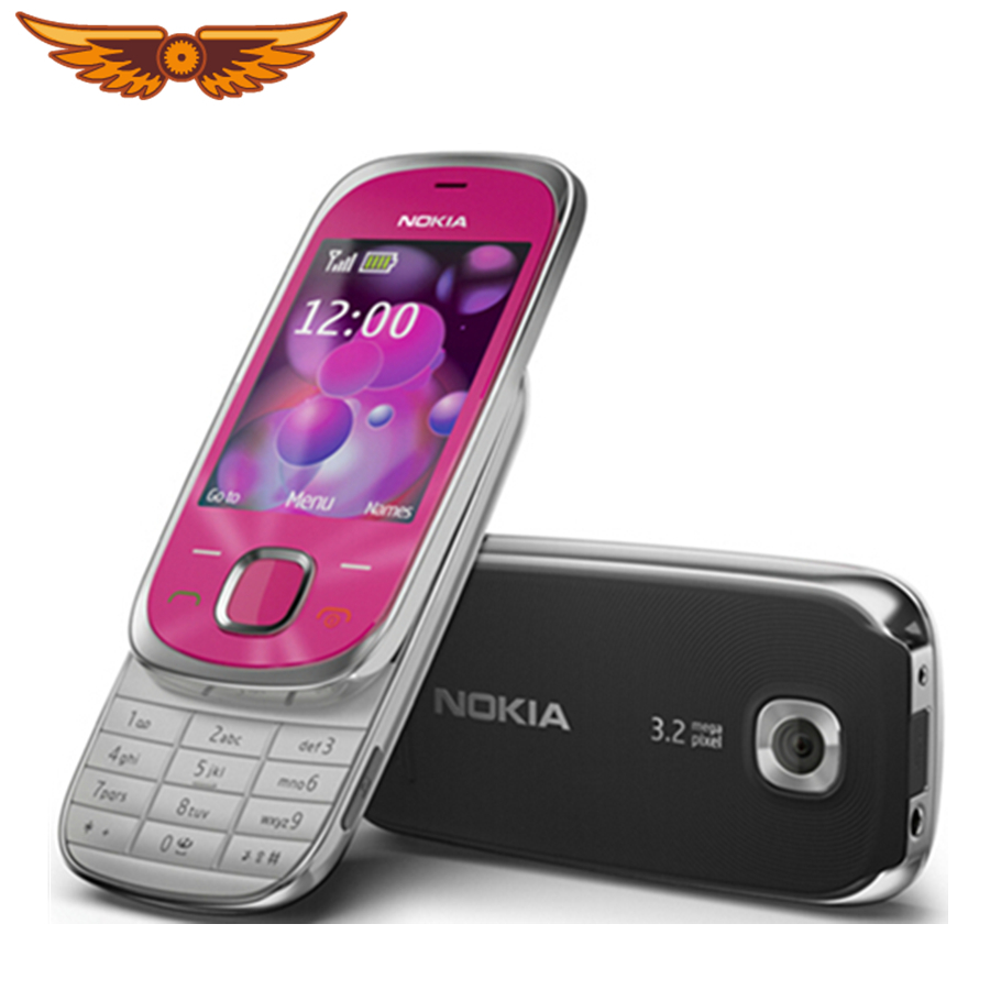 7230 Original Nokia 7230 Bluetooth FM JAVA 3.15MP Unlocked Cell Phone  One Year Warranty Free Shipping