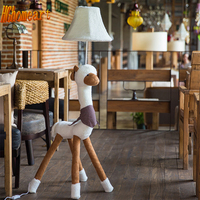 High Quality Cartoon Kids Floor Lamp LED E27 Bulb 110V/220V Cute Cloth Goat People Led Lamp Floor Standing Fashion Floor Lamps