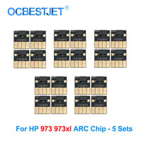 5 Sets 973XL ARC Chip For HP 973XL Ink Cartridge Chip For HP PageWide 352dw 377dw 452dn 452dw 477dn 477dw 552dw Permanent Chip