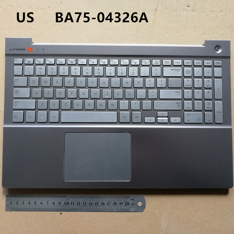 все цены на US backlit New laptop keyboard with touchpad palmrest for Samsung NP880Z5E 870Z5E 880Z5E 770Z5E 780Z5E Silver