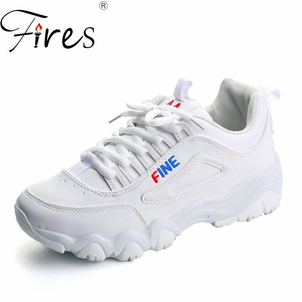 Incendies Femmes D'été de Course Sneakers Artificielle en cuir Sport Chaussures Dames Solide Couleur Chaussures de Marche Lumière Douce En Plein Air Baskets