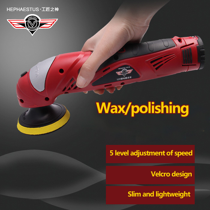 HEPHAESTUS Polishing machine with lithium battery  for car polish both direct charge and with battery 1pc white or green polishing paste wax polishing compounds for high lustre finishing on steels hard metals durale quality