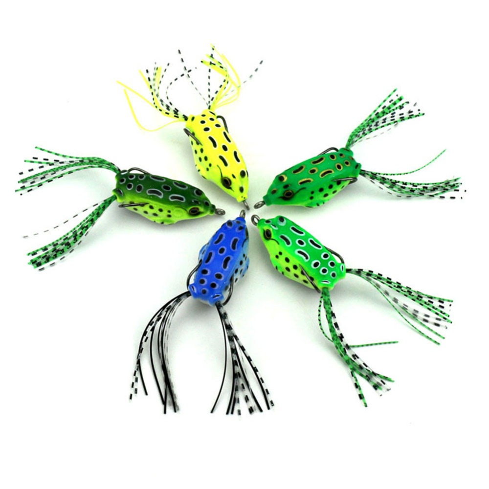 100Pcs Soft frog Plastic Fishing lures Frog lure 5 5cm 2 16 8G With Hook Top
