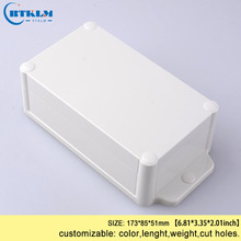 Waterproof  junction box diy electronic project case design wall mounting plastic enclosure seal wire connectors box 173*85*51mm 180 150 70mm black color custom box waterproof plastic junction box wall mounted enclosure plastic electronic project box
