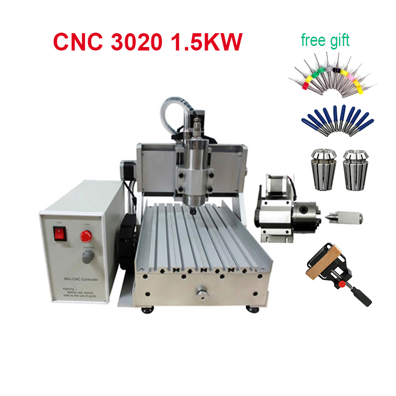 LPT USB CNC 3020 Z VFD 1.5kw Sindle Engraving Milling Machine For Wood Metal With Water Pump Free Gift