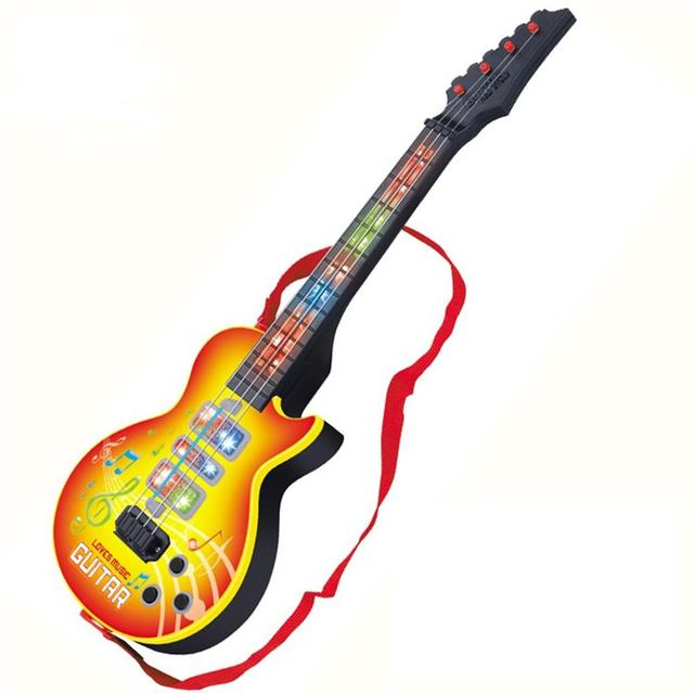 LeadingStar High Quality 4 Strings Music Electric Guitar Kids Musical Instruments Educational Toys For Children As Ne