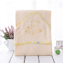 100% bamboo fiber super soft and comortable 90x90cm 345gsm baby towel baby hooded towel infant towel