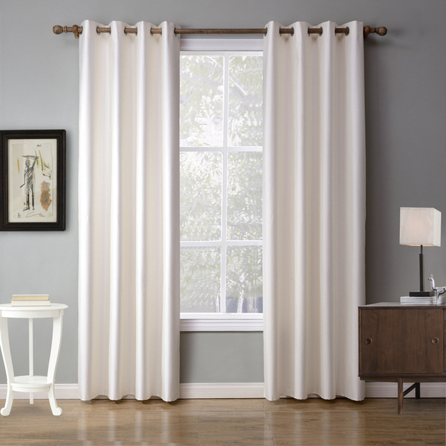US $17.84 20% OFF|XYZLS European Solid White Curtains Shade Blackout  Curtain Window Drapes cotinas For Bedroom Living Room home decor-in  Curtains from ...