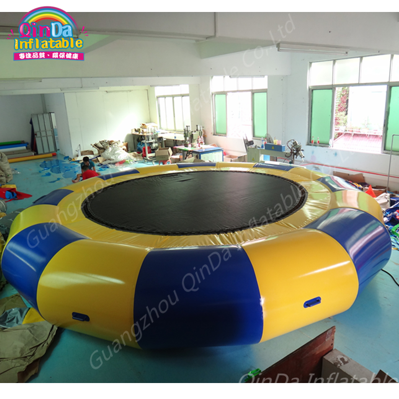 Pool Toys Floats Trampoline Inflatable Jumping Bed,Inflatable Trampolines Sock, Aqua Park Water Trampoline Exciting Water Game