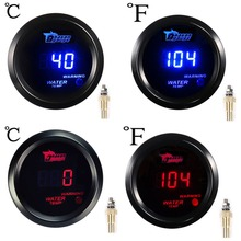 2 inch Car Water Temp Gauge Blue / Red Digital LED Centigrade F Fahrenheit Auto Instrument 52mm water temperature Meter