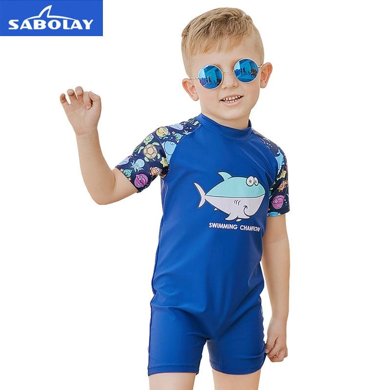 e227f7aa34 Detail Feedback Questions about 2 8T Baby Boys One Piece Swimwear for  Surfing UPF80+ Sun Protection Cartoon Bathing Suit Beachwear Kids Short  Sleeve ...