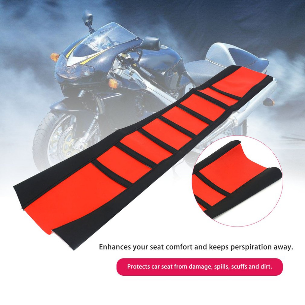 New 830*480mm Rubber Motorcycle Seat Cover Striped Soft Seat Cover Waterproof For Off-road Motorcycle Refitting Drop Shipping