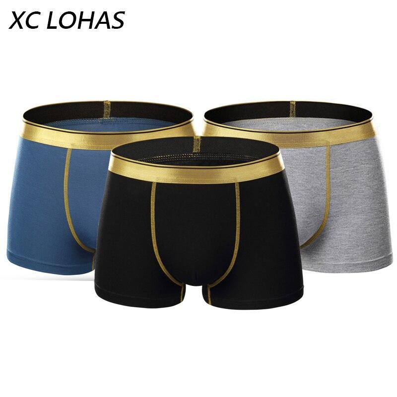 3 unids/lote alto elástico casual hombres Ropa interior Boxers sexy cómodo colorido Boxers hombres Pantalones cortos Pantalones cueca masculina Venta caliente