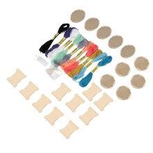 Горячие DIY Деревянные крестиком кольца мини кольцо вышивка круг швейный набор рамка ремесла LSK99
