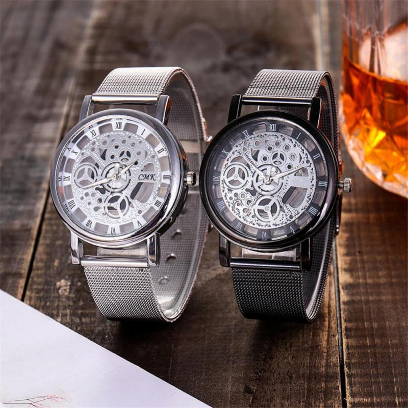 Unisex Watch Women's Watch Men's Fashionable Alloy Watch Mesh Strap Round Dial Roman Numeral Scale Wristwatch alloy strap number rhinestone watch